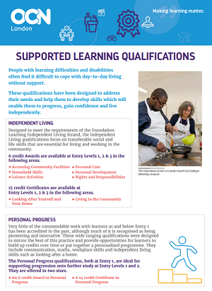 Supported Learning Qualifications